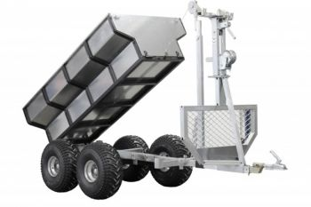 ATV træ trailer + last boks + kran
