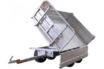 Tipvogn - 1500 kg kapacitet med en 3-vejs vippemulighed