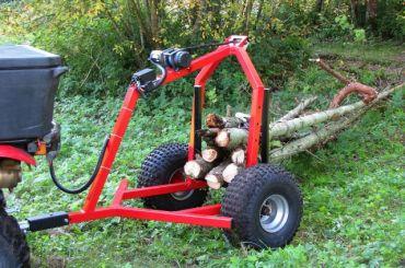 ATV træ transportør med elektrisk håndsvingssæt