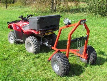ATV træ transportør med manuelt håndsvingssæt