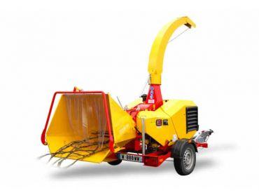 XYLOCHIP 125 M - 28,5 HP Lombardini Diesel motor monteret træ chipper / shredder