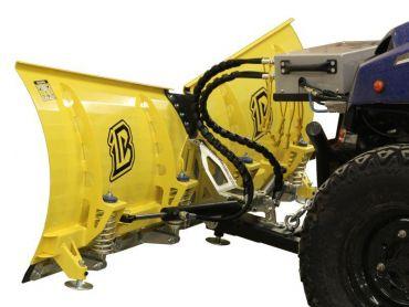 Sneplov til ATV - 180cm V-formet klinge - hydraulisk drejeversion