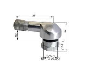 Alu Dækventiler Ø8,5mm Sølv