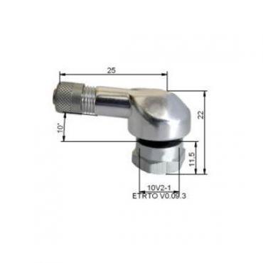 Alu Dækventiler  Ø11,5mm Sølv