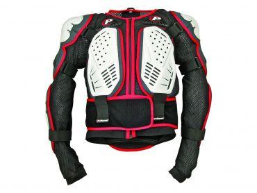 Polisport hvid/sort/rød Integral krops armor